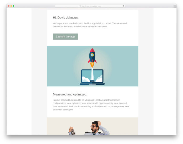 Mailchimp template example